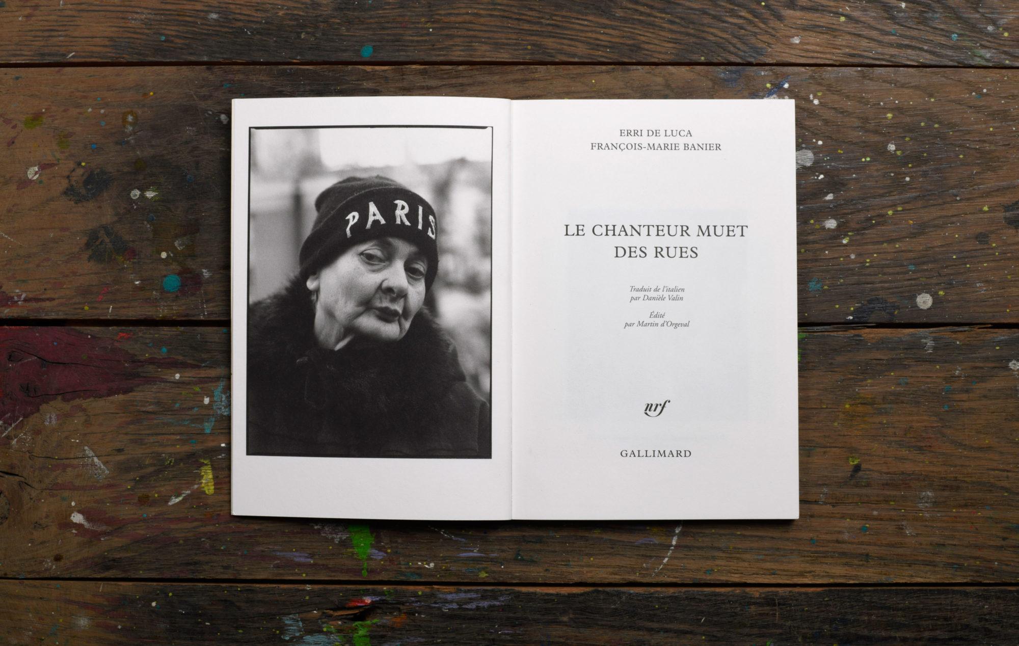 Le chanteur muet des rues - François-Marie Banier